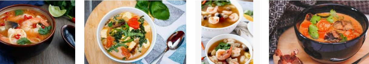 A must try in Thailand is Tom Yum Soup, a delicious soup filled with spices and traditionally seafood.