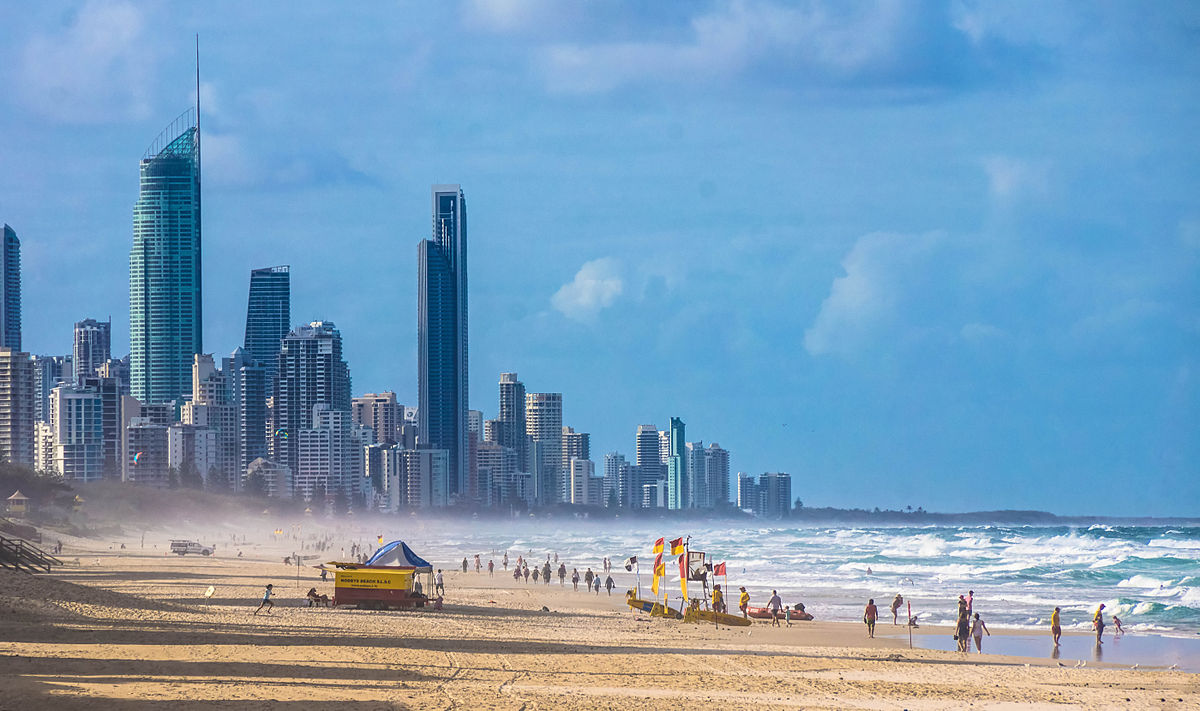 One of the best cities to visit in Australia is Brisbane and right outside is a beautiful strip called the Gold Coast.