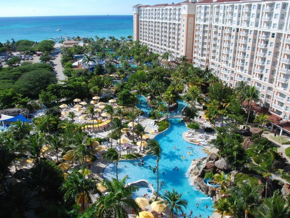 A gorgeous view from the Marriott Aruba Surf Club, one of the best timeshares in Aruba