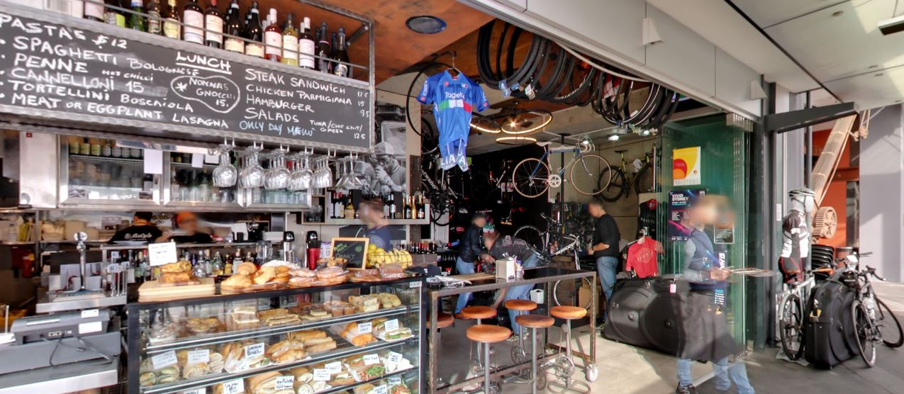 Bar Cycle is a great place to enjoy morning coffee in Sydney.