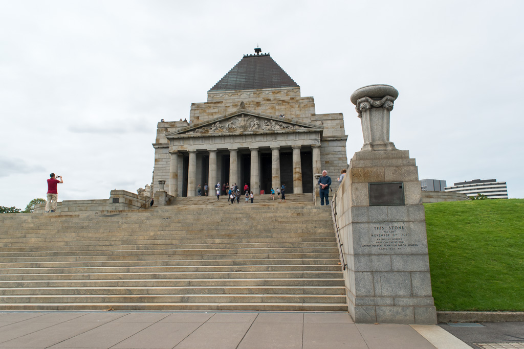 One of the best things to do in Melbourne is visit the Shrine of Remembrance