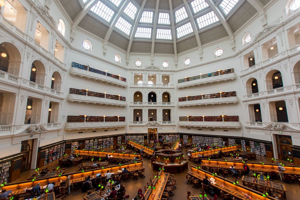 Please understand you cannot miss the State Library of Victoria while in Melbourne.
