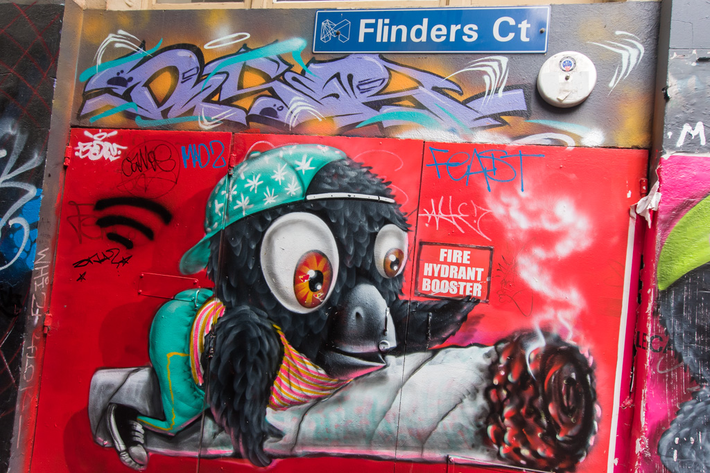 Street Art in Melbourne is everywhere.
