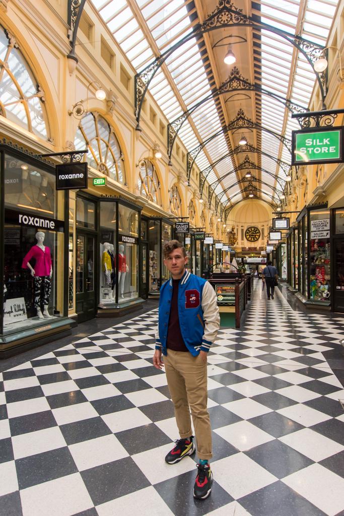 An arcade in Melbourne.
