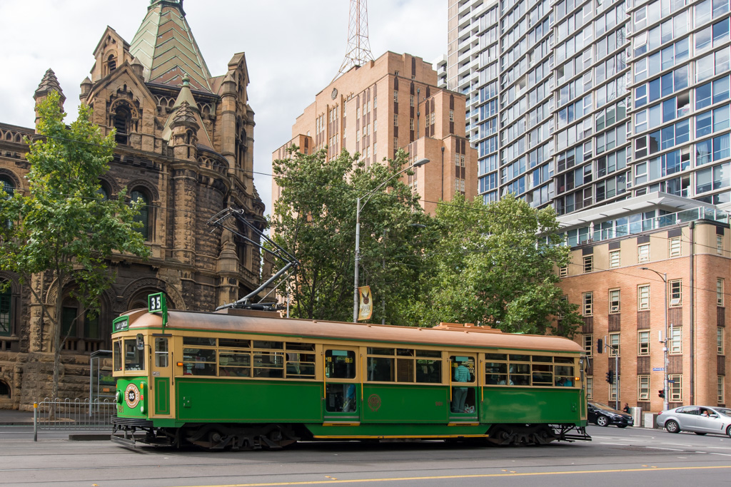 Melbourne Trams are unique and beautiful to ride. They also have modern trams that efficiently take you around the city.