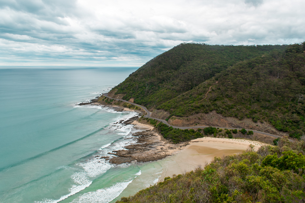 The view from Teddy's Lookout right outside of Lorne.