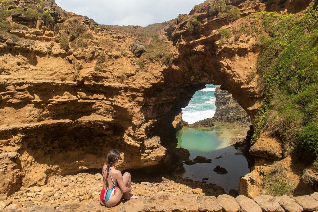 One of the best stops on the Great Ocean Road is The Grotto.