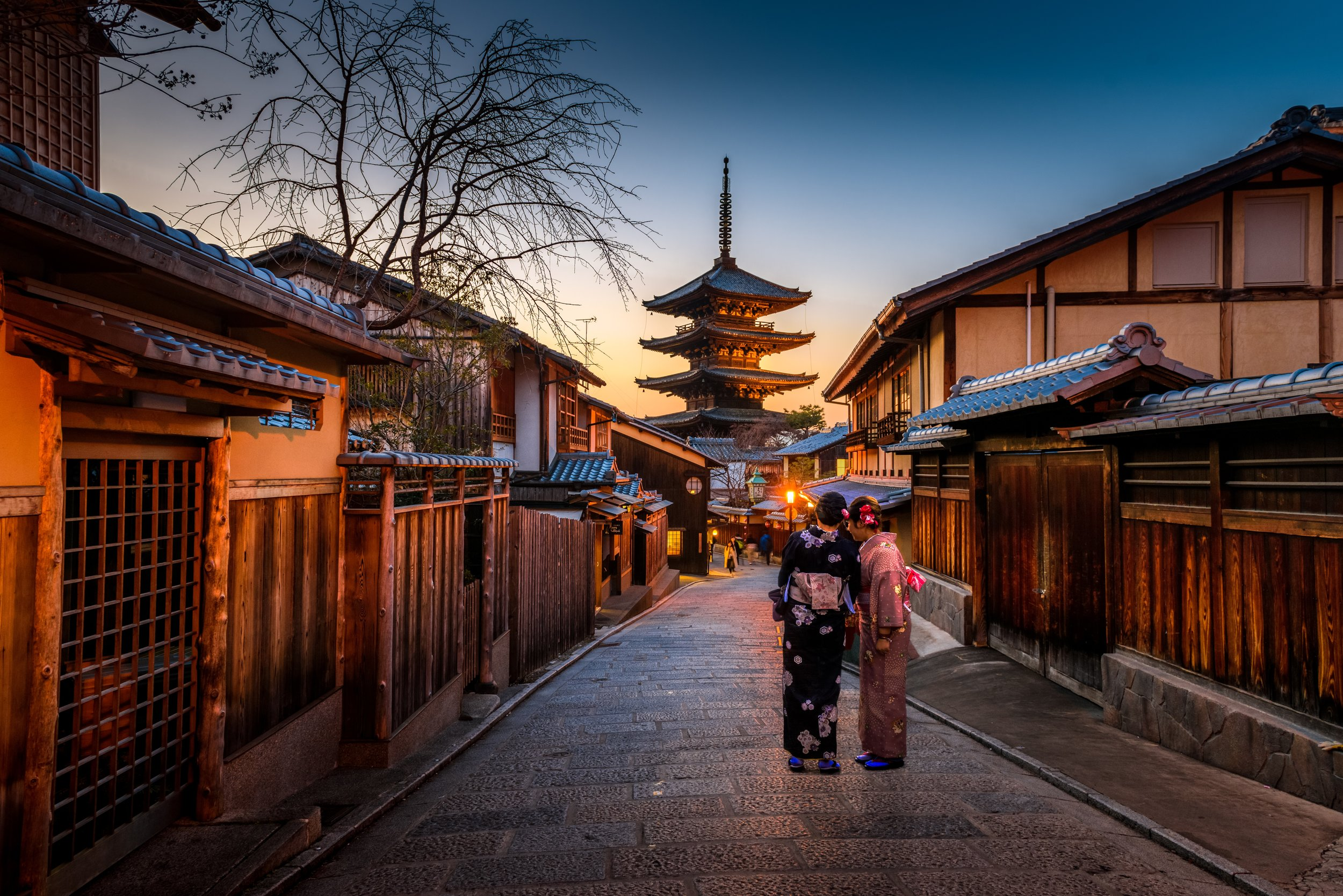Kyoto is one of the best places in the world for couple to visit.
