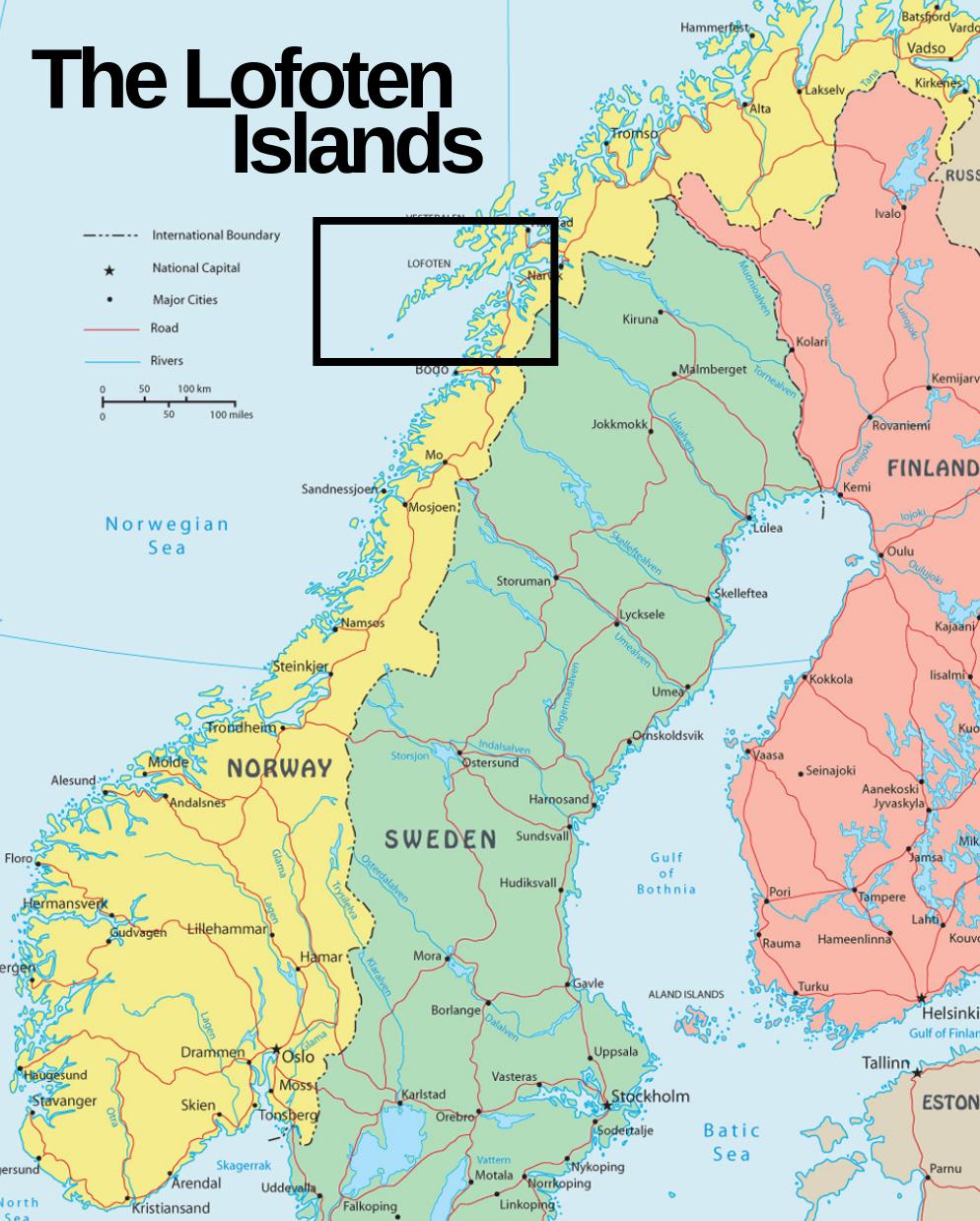 Where is Lofoten in Norway?