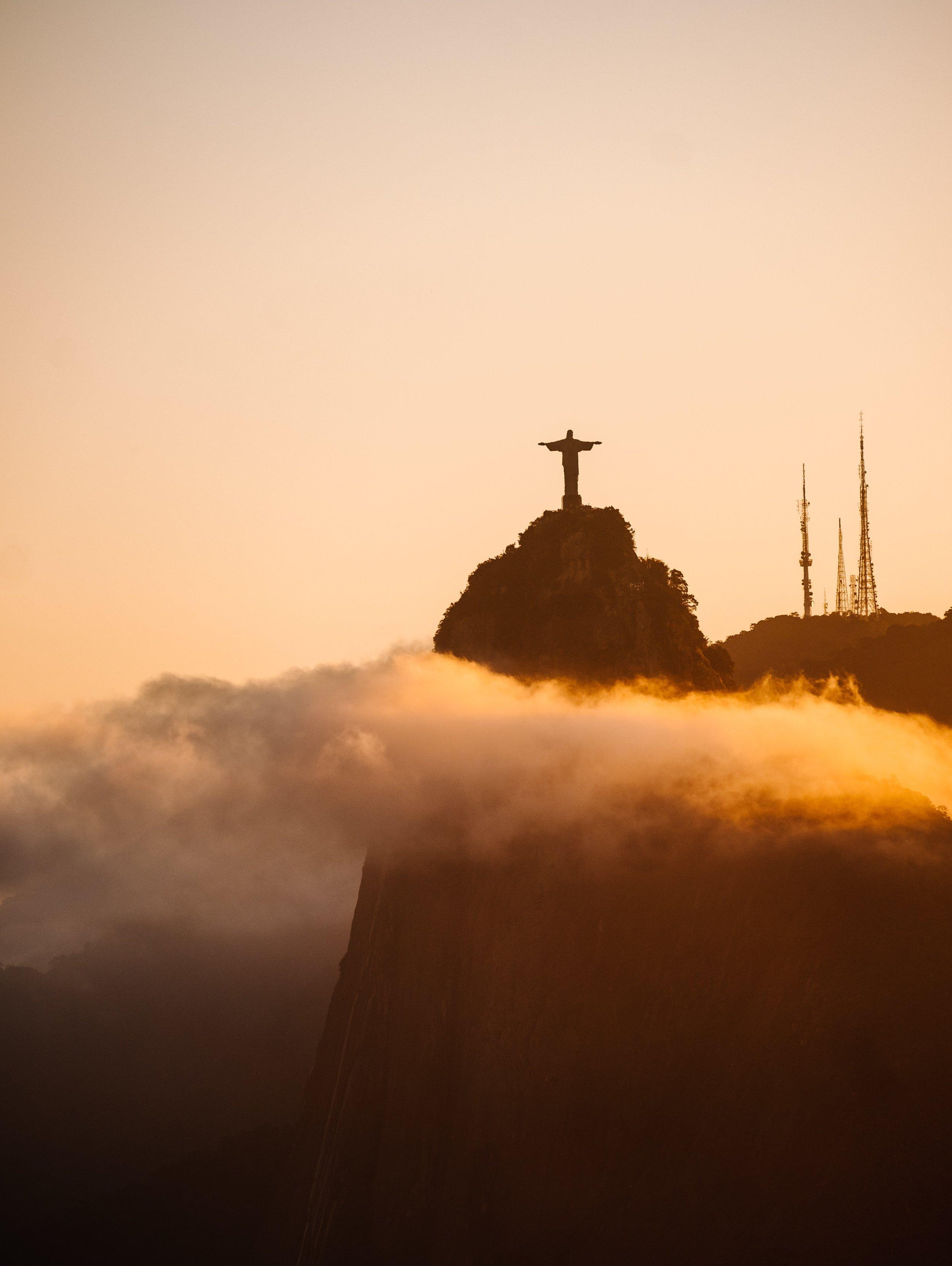 Christ the redeemer statue in Brazil.