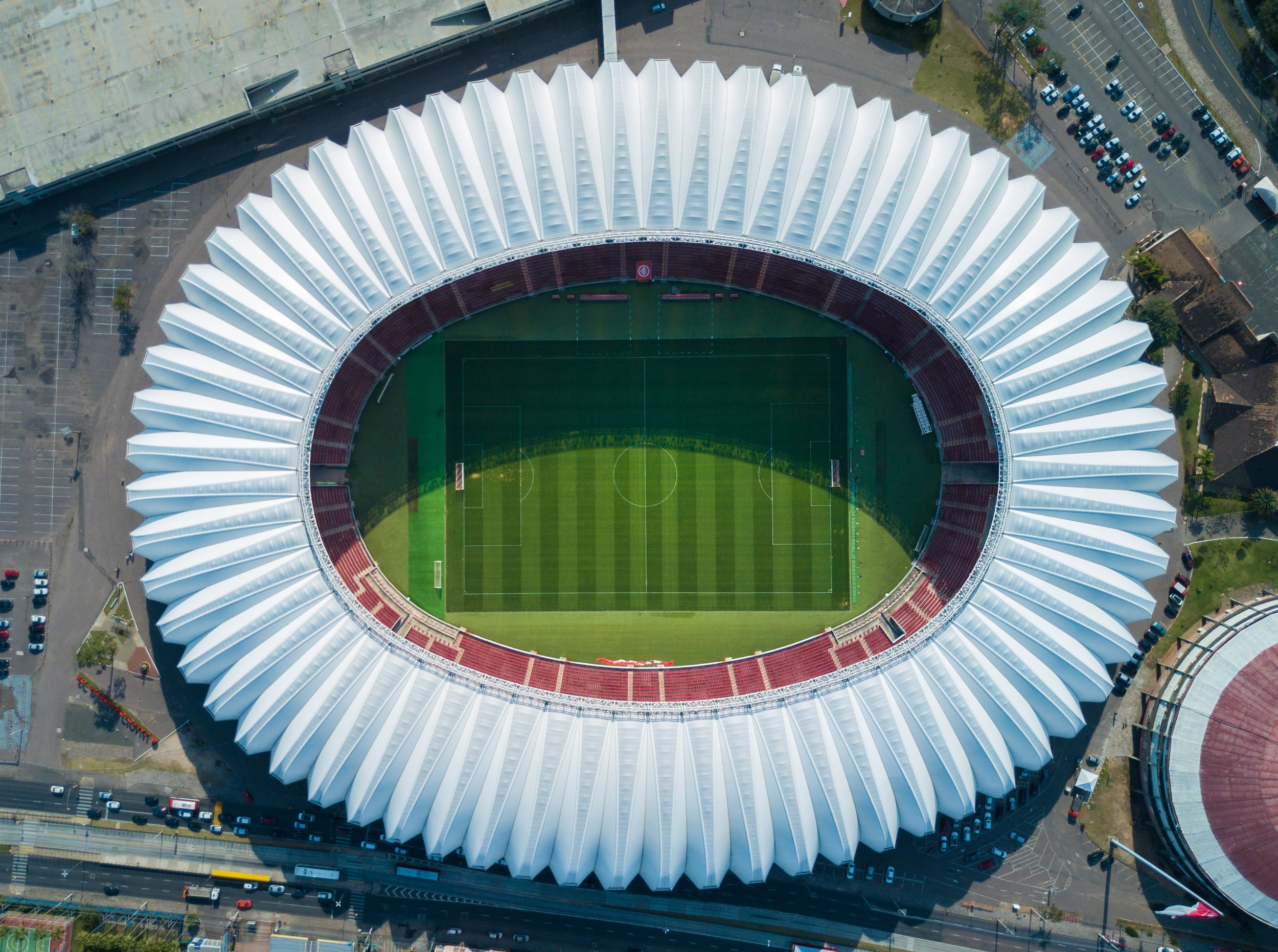 One of the largest football stadiums in the world is in Rio - check out Maracana Stadium