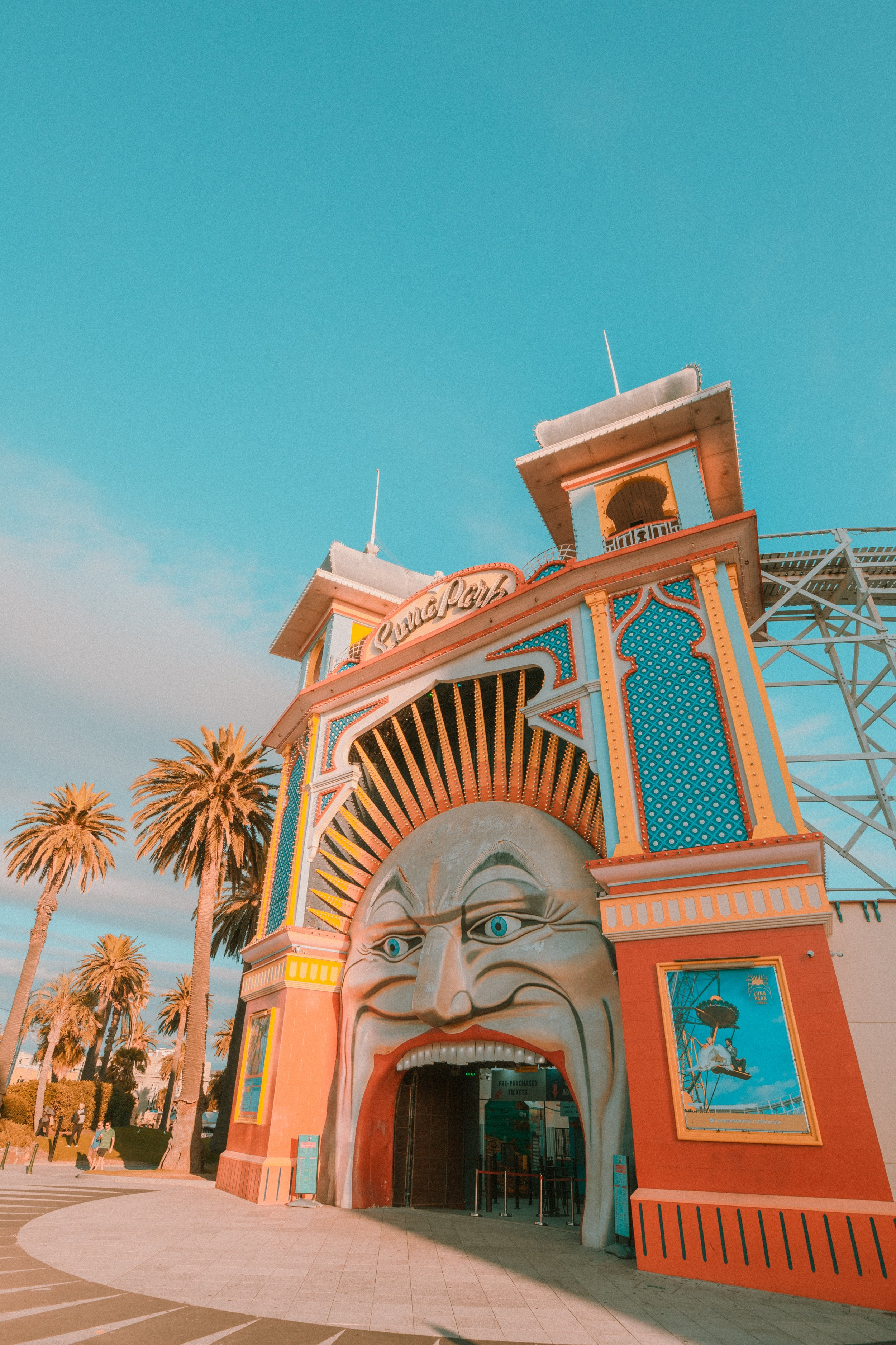 Luna Park in Melbourne is a great place to visit