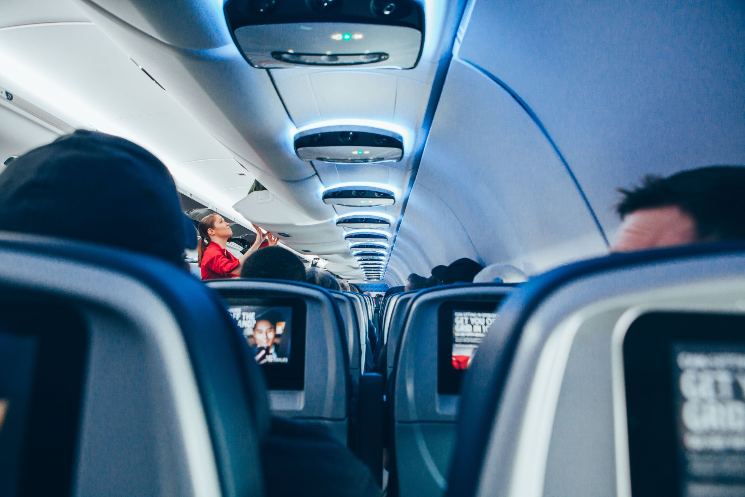 While on your flight it is imperative you walk around and stretch your legs.