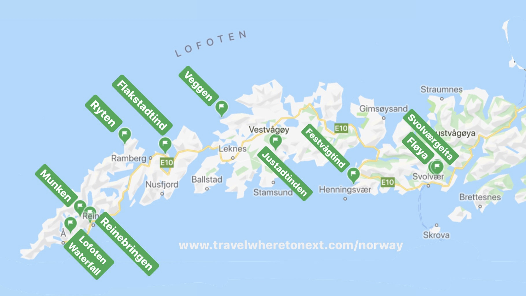 The very best trails and hikes in Lofoten for beginners.