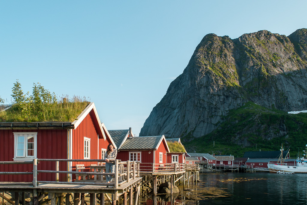 Rorbu in Reine, one of the most popular places to visit in Lofoten Islands.