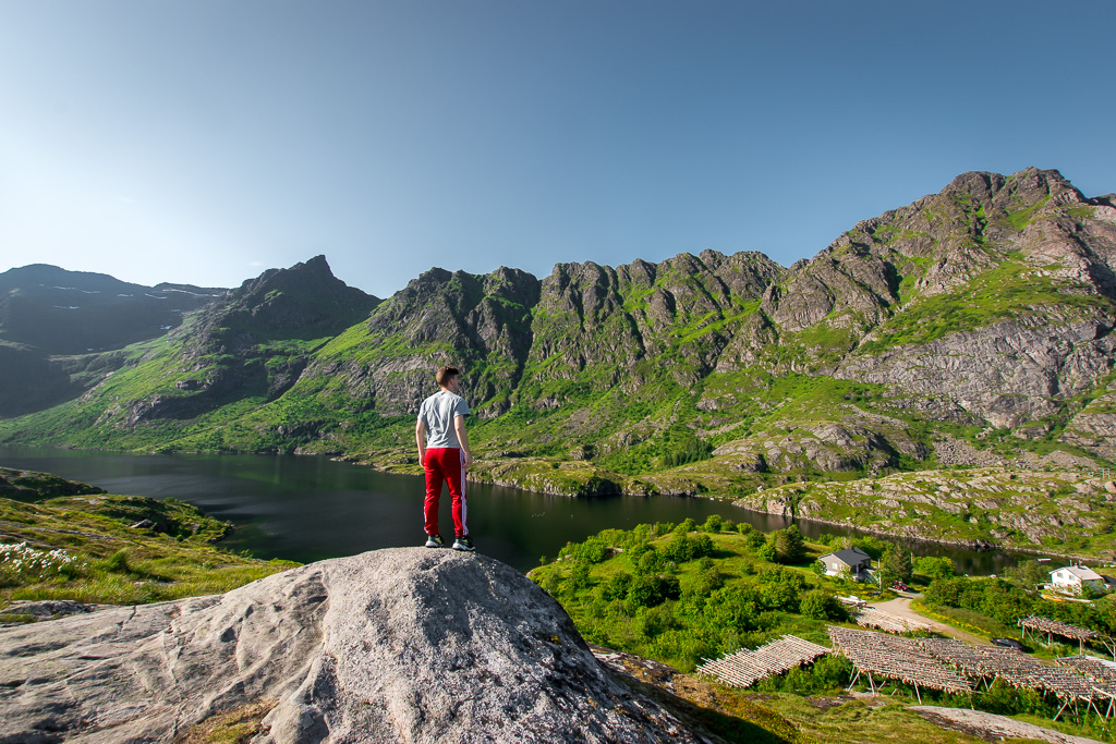 Some of the most beautiful sights in Lofoten are right off the road.  Location: right outside the town of Å.