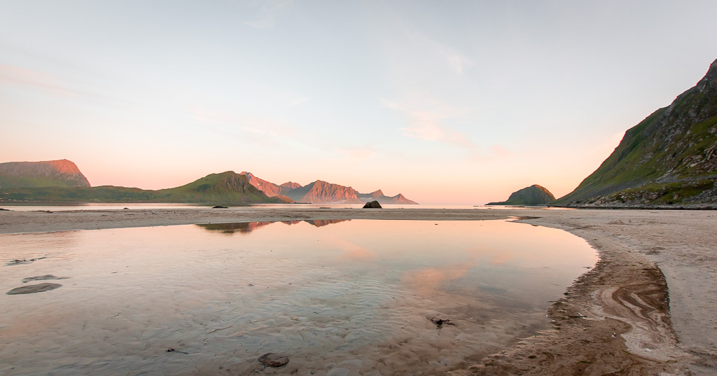 Haukland Beach in Lofoten was ranked one of the most beautiful beaches in Norway.