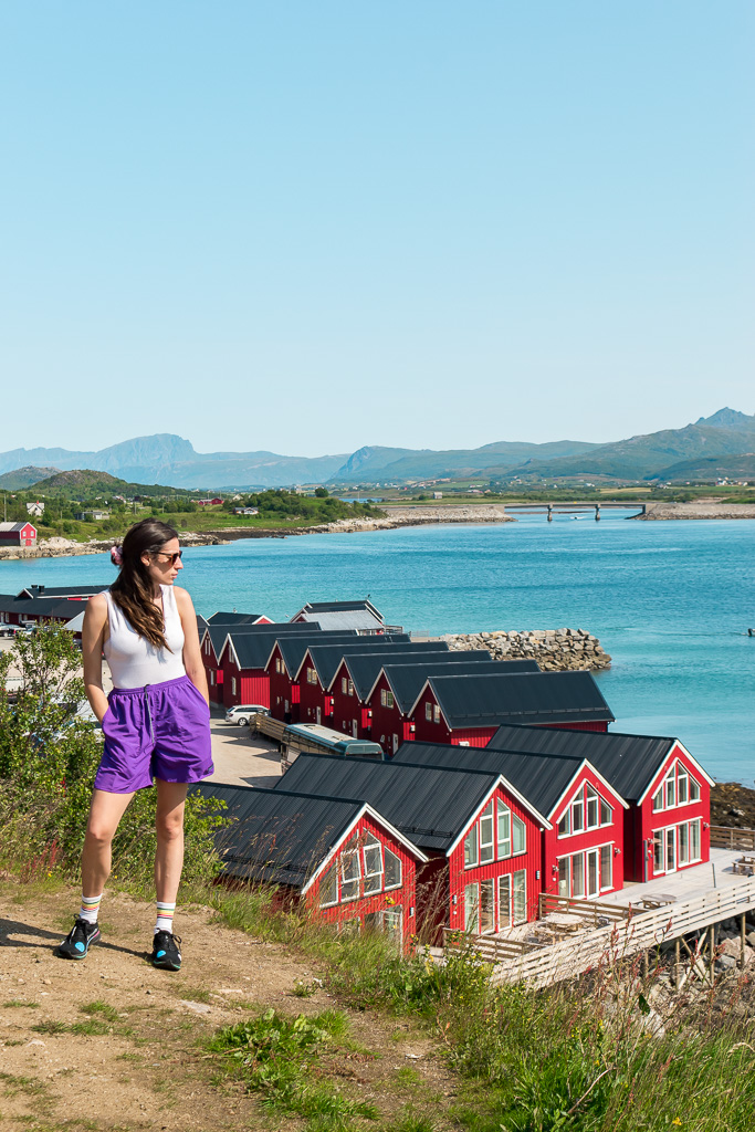 During the summer in Lofoten it can be warm enough to wear shorts and a tank top!