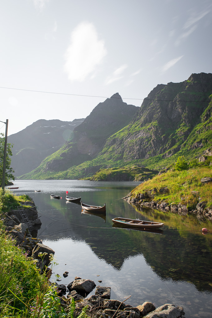 Beautiful scenes in Lofoten are literally everywhere.