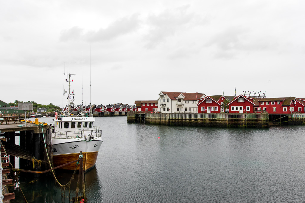 Svolvær on a rainy morning is still gorgeous and one of the best places to visit in Lofoten.