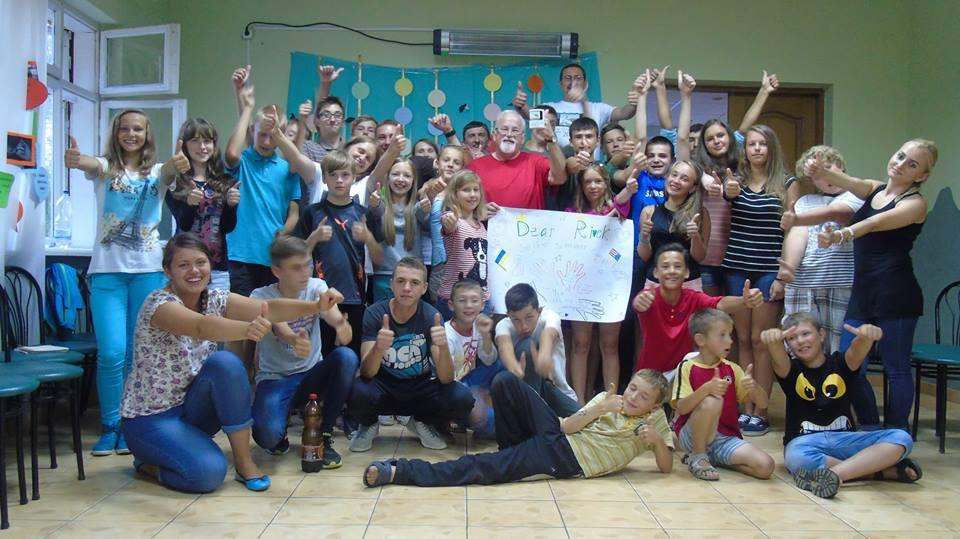 Activities at the Dubilyany summer camp carried out by Hosanna Church