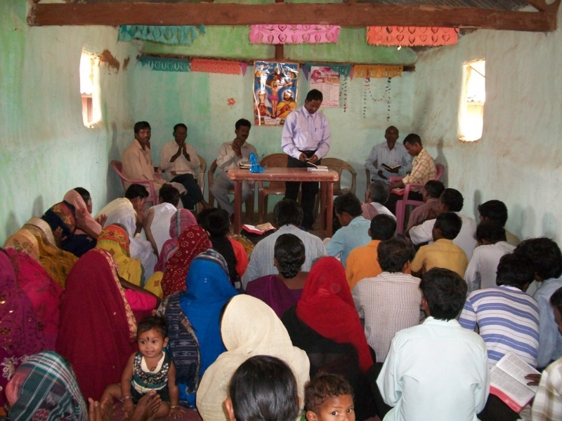 A typical church in rural India - the type we will be equipping alongside India Mission Association