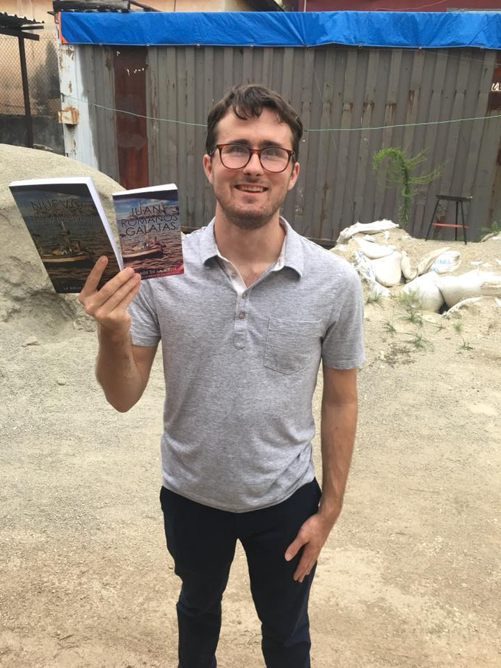 Preston Smith holding two of our Christian books approved by the Cuban government.