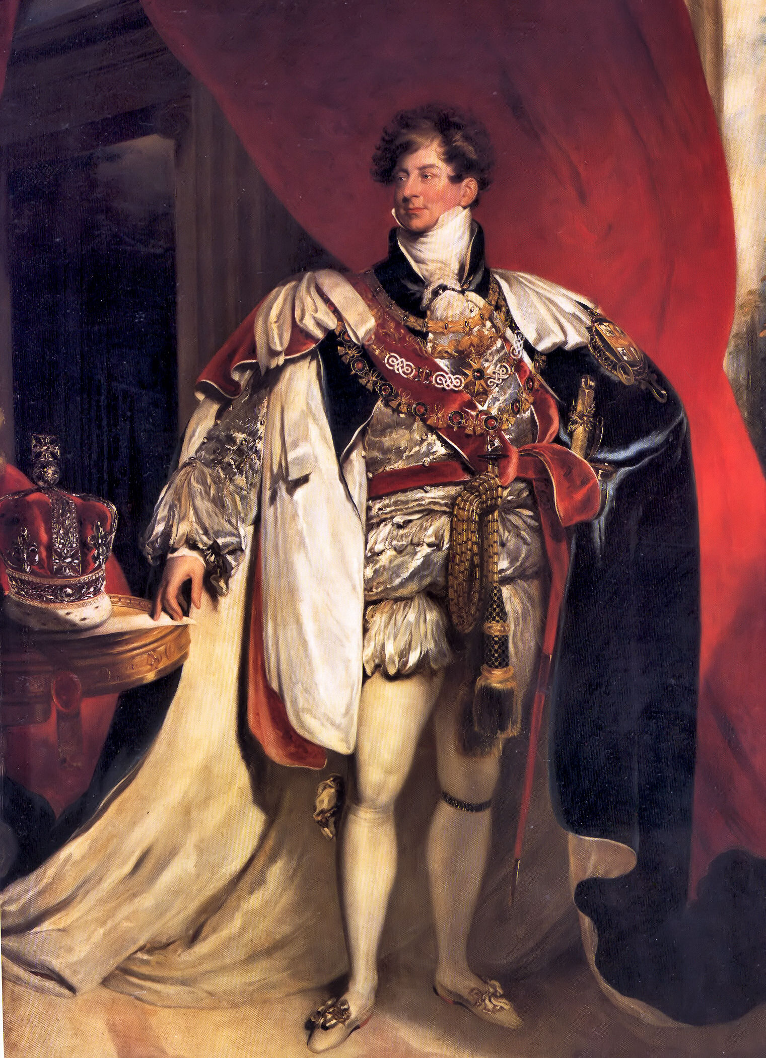 """Portrait of George IV of England."" Painted by Thomas Lawrence in 1816."