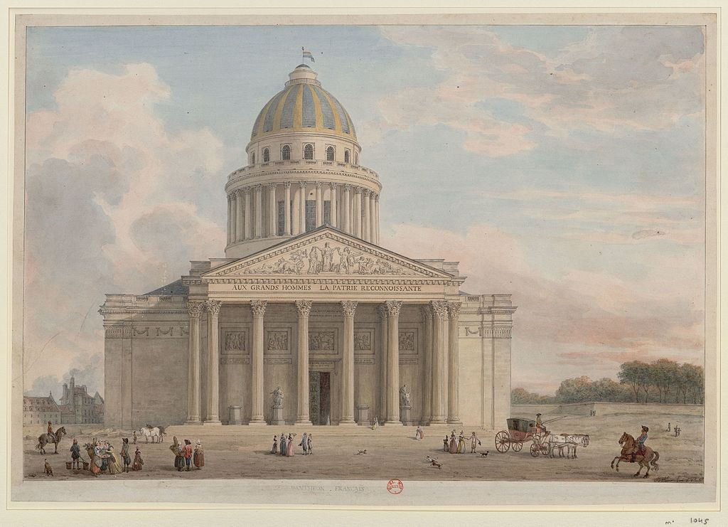 Le Panthéon de Paris as painted by Jean-Baptiste Hilair, 1795. (Public domain)