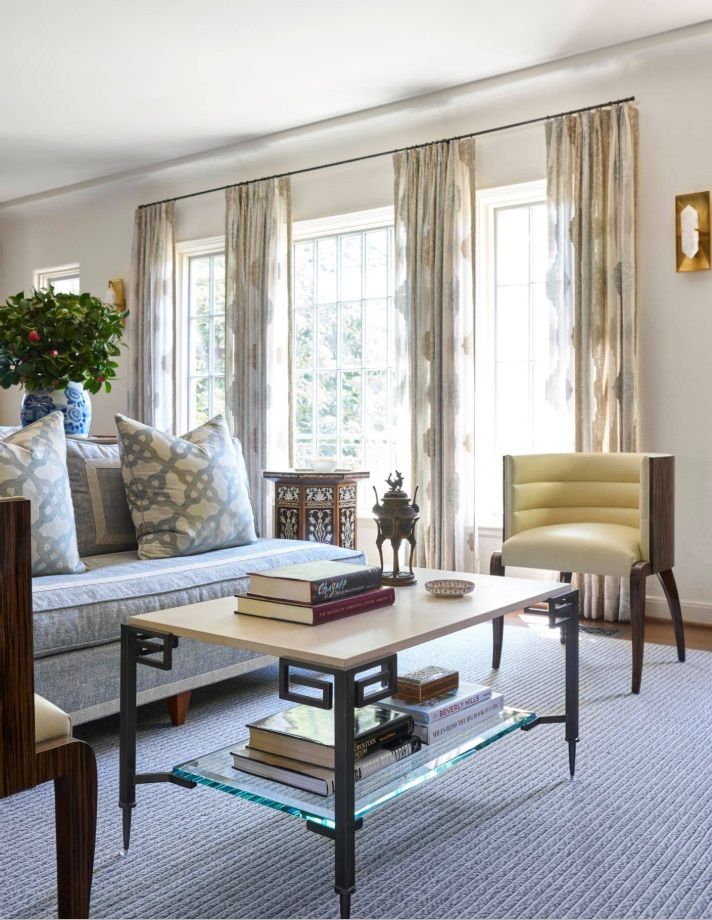 These curtains are sheer, allowing lots of natural light into the room.