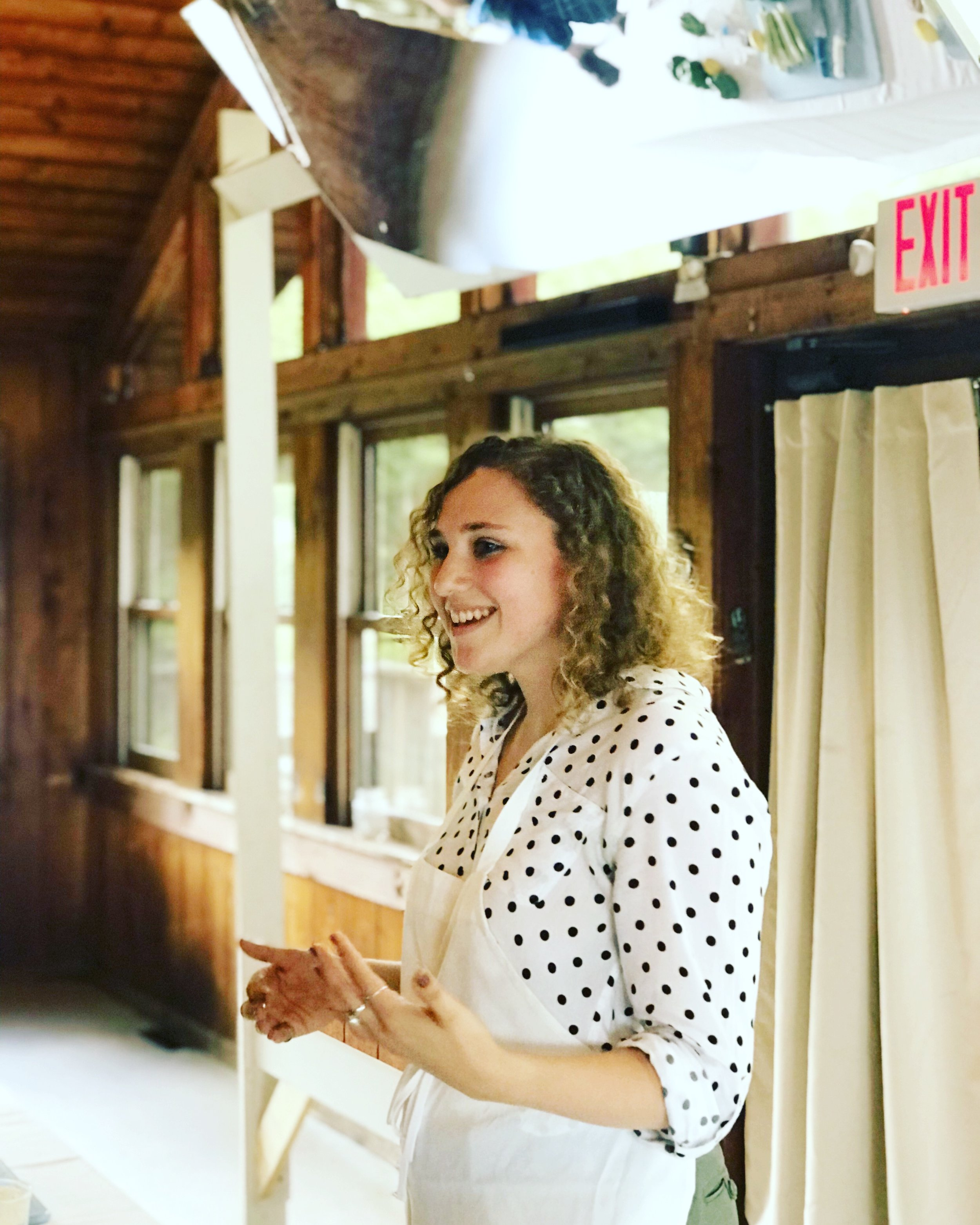 Sara Gardner speaks at the Hazon Jewish Food Conference Photo: Danielle Rehfeld Colen