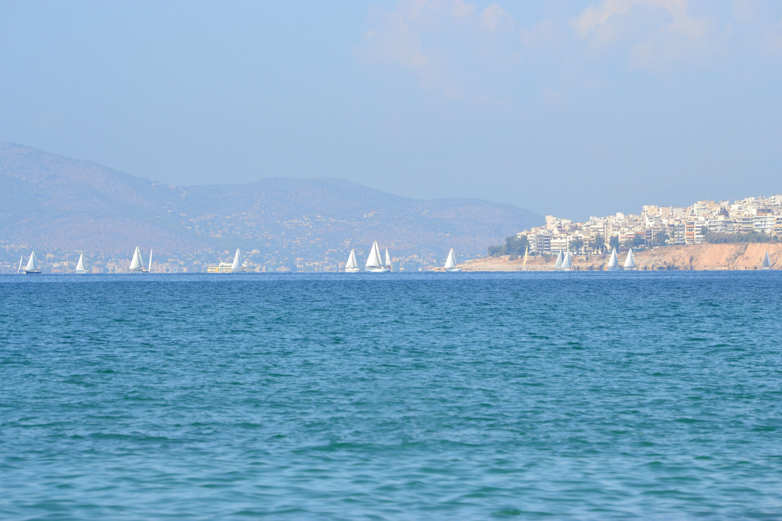 My first day in Athens, sitting on the beach and looking out.