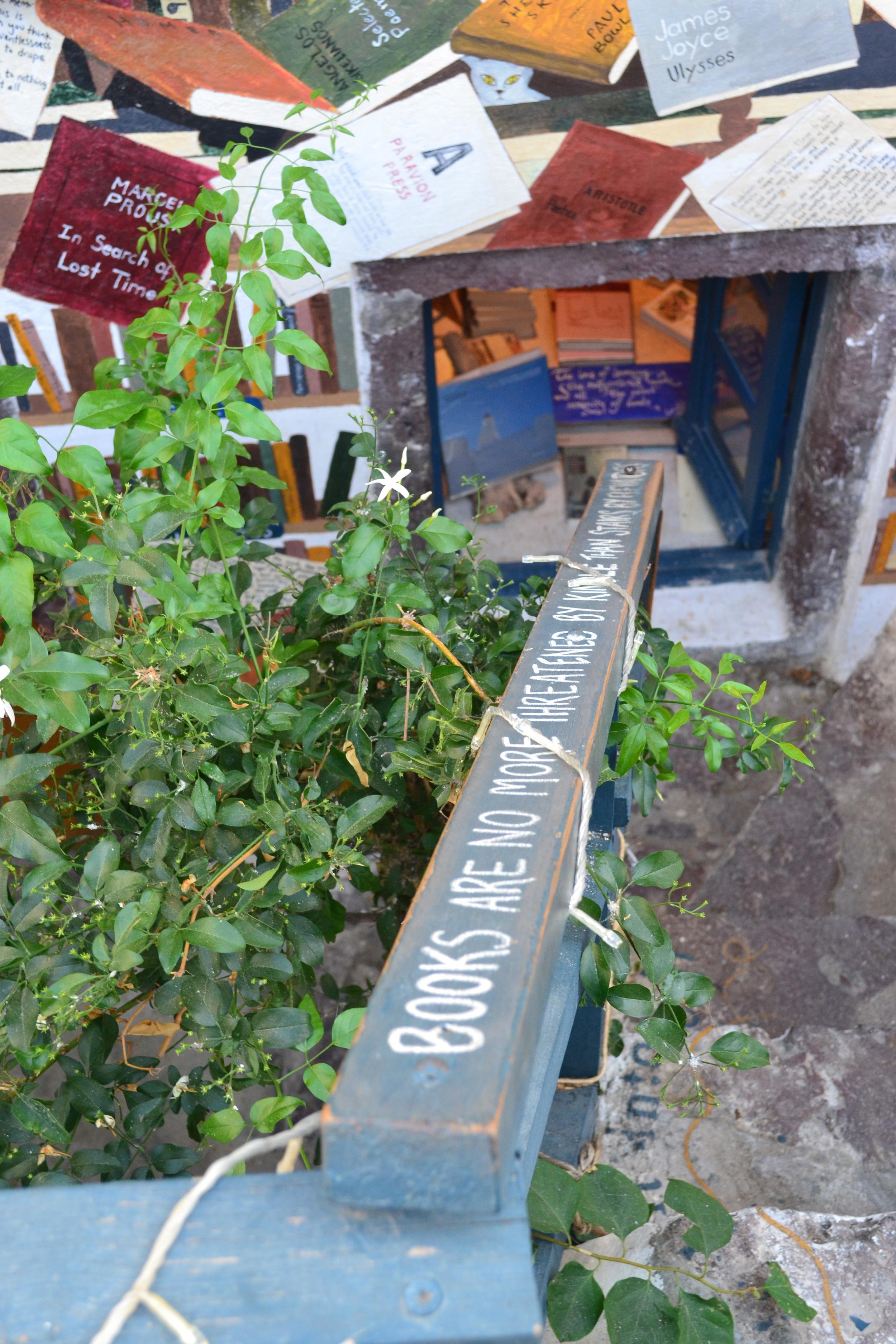 The way down to Atlantis Bookshop...