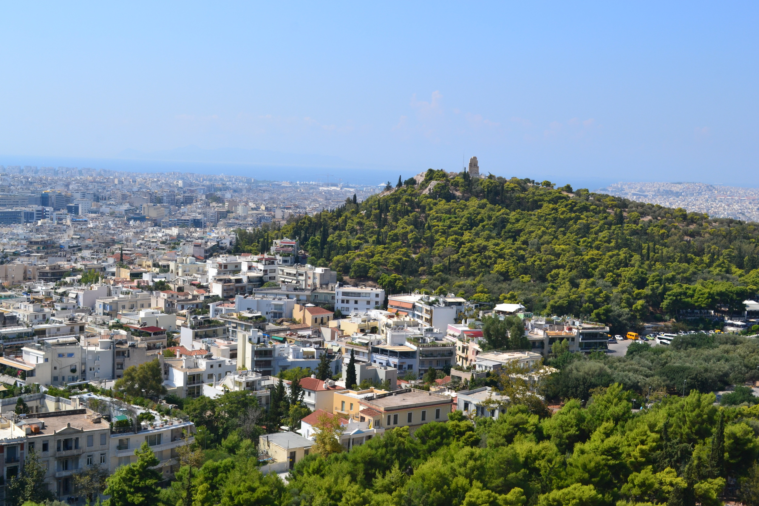 Looking out from the Acropolis