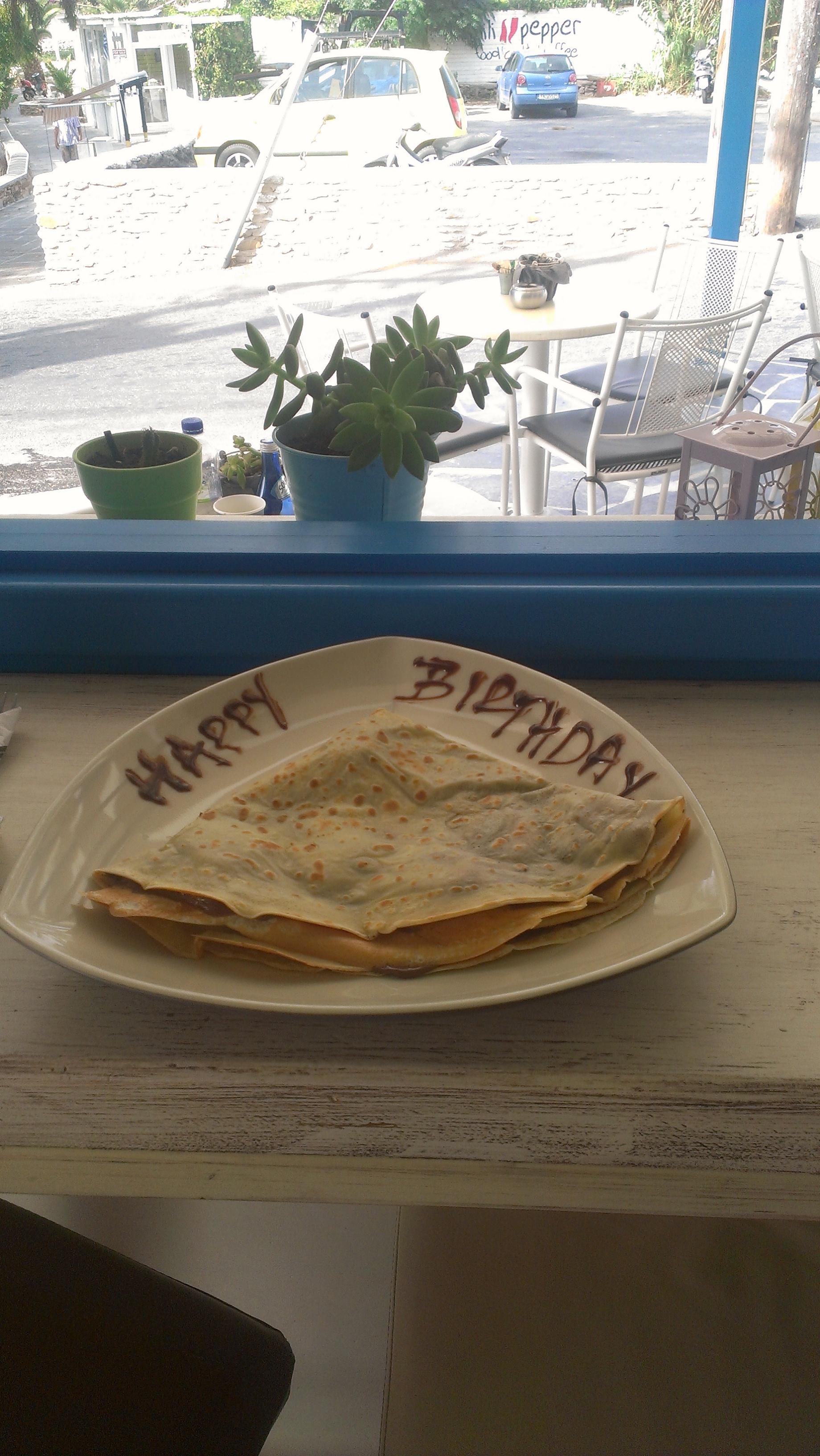 Birthday Crepe!