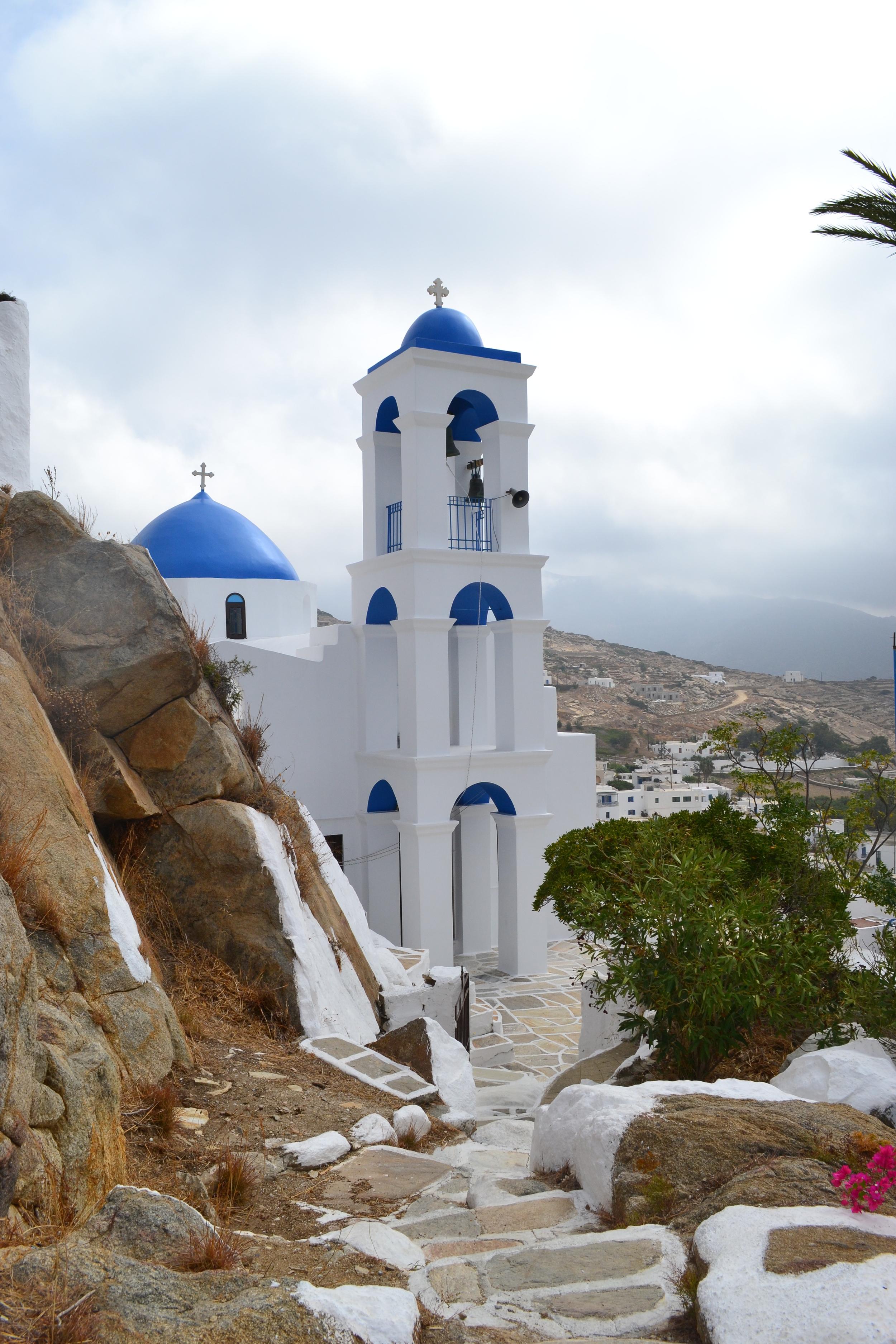 Panagia Gremiotissa -The church of Virgin Mary Gremiotissa is the trademark of the island.