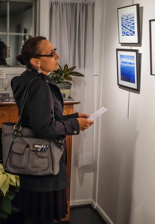 Guest, Jean Schweibish investigating the works