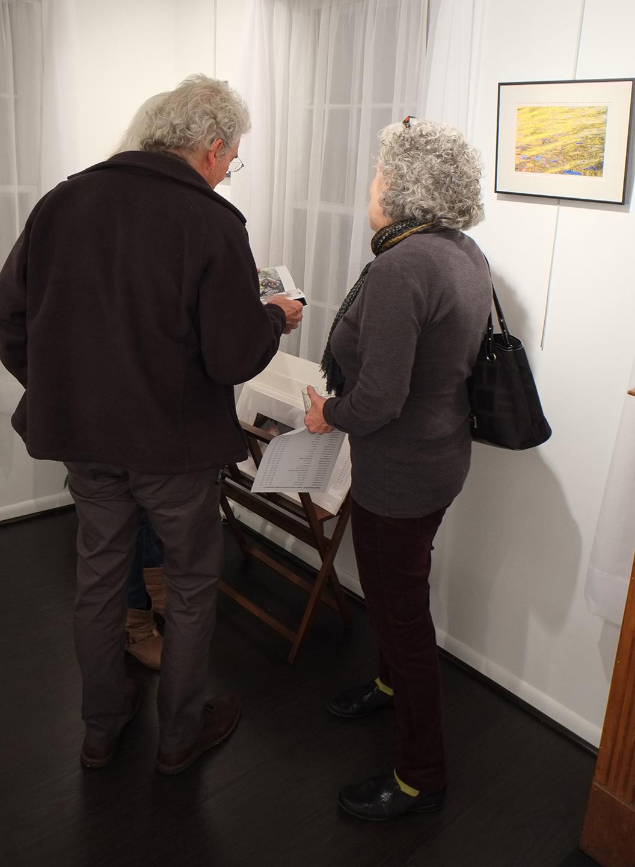 Karen Bell discussing works