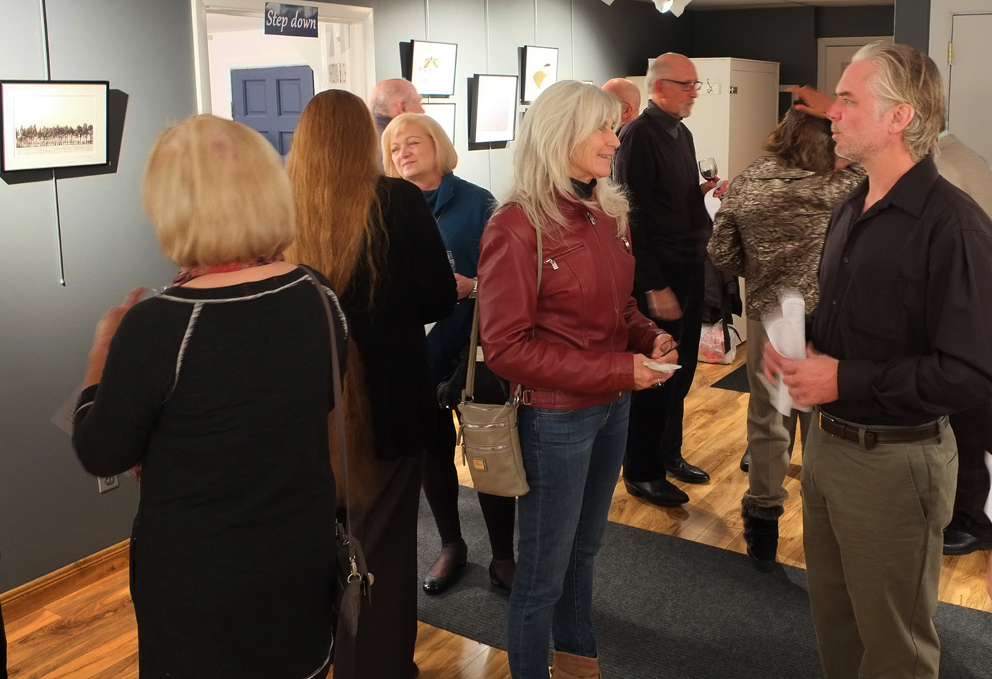 Guests enjoying the exhibit