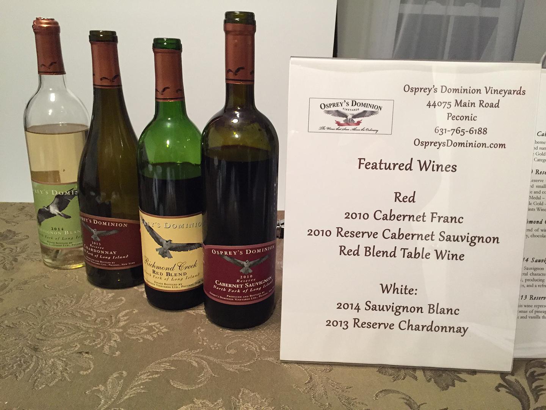 Small Works Wine Sponsor Osprey's Dominion Vineyards