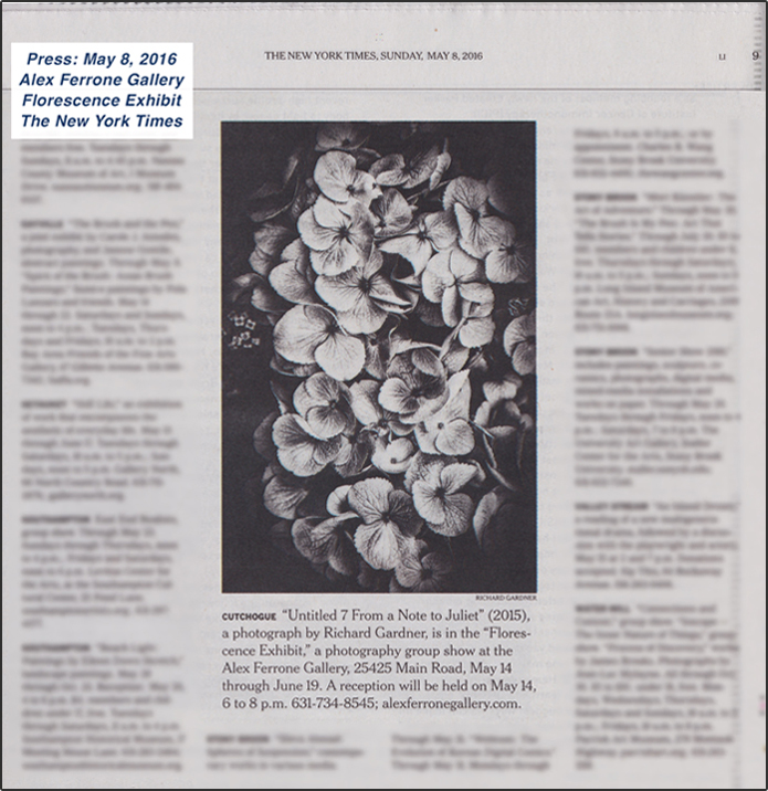 Florescence in the New York Times: Sunday, May 8, 2016