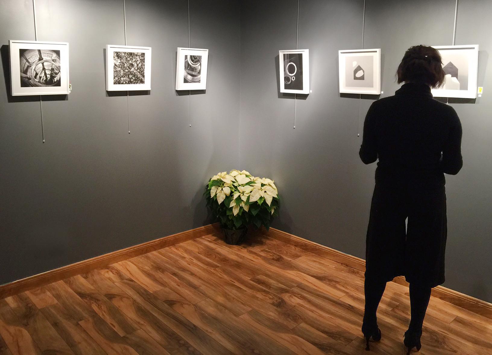 Guest enjoying the art