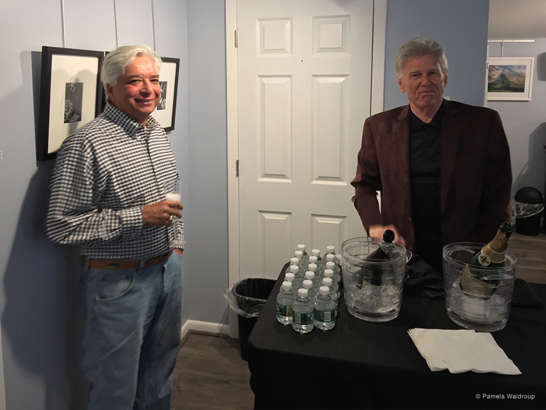 Guest John Boone with our number one bartender, Realtor and Appraiser, Richard Abatelli.