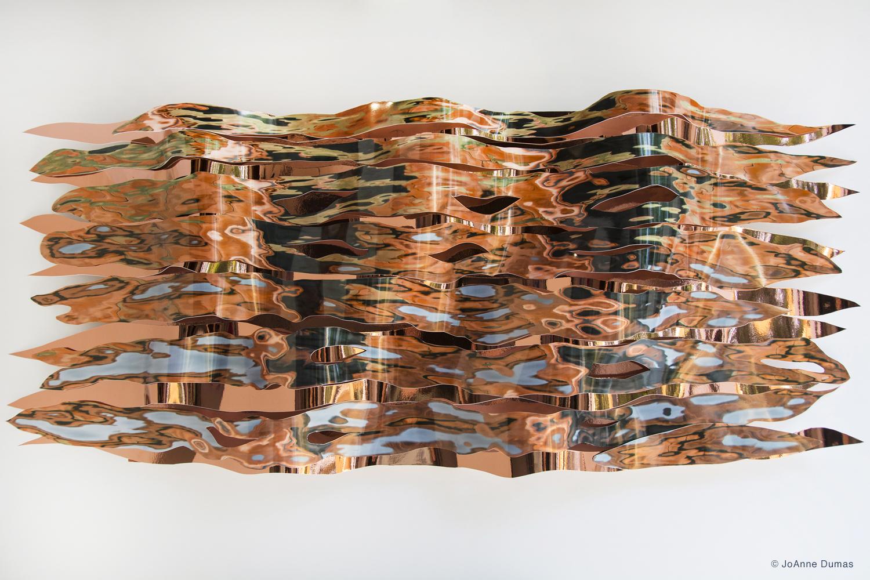 Copper Ripples #2 by JoAnne Dumas