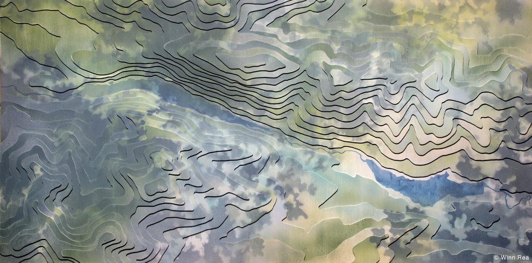 Topo Shift: Ausable Lakes 1 by Winn Rea