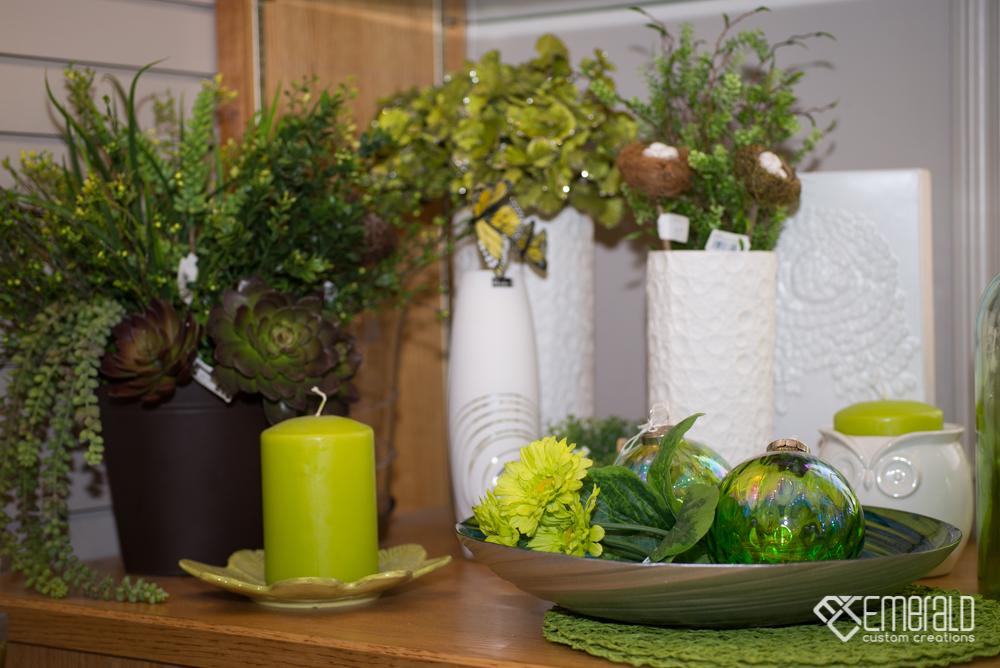 Green floral display