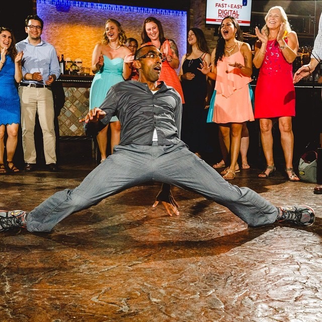 #doctorbedancing: wedding crasher. #wedding #reception #dance
