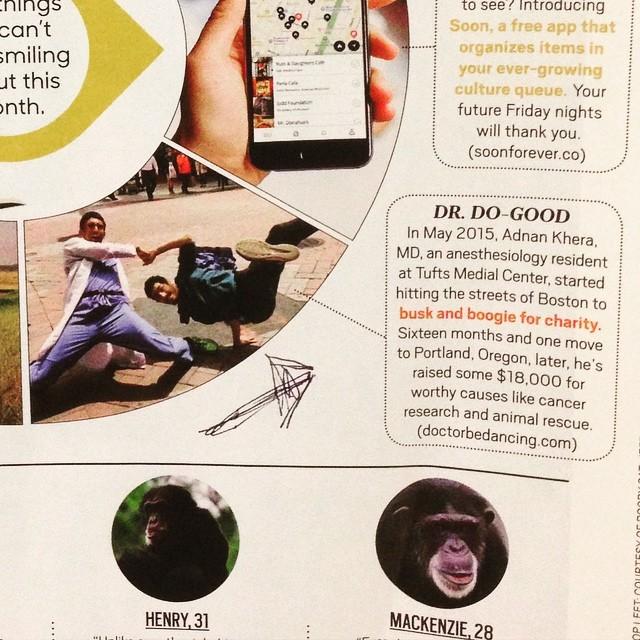 #doctorbedancing featured in @oprahmagazine! #DBD #dancingdoctor #dancedonate