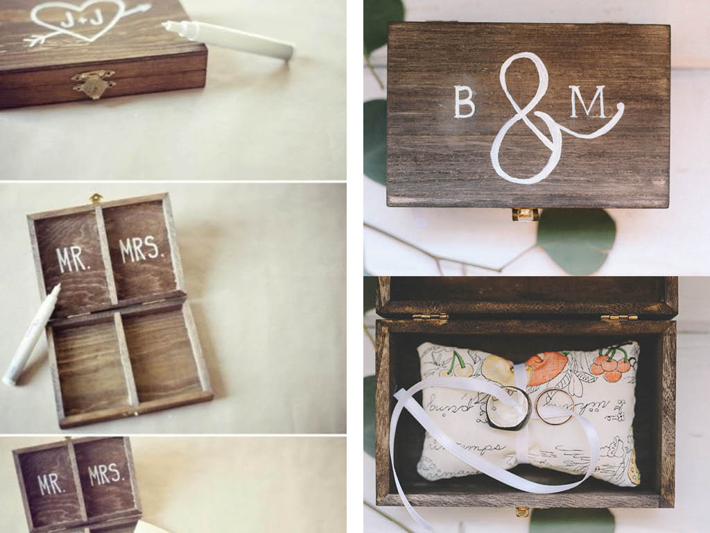 Ring-bearer box inspiration (with a pillow made from my great grandmother's handkerchief)