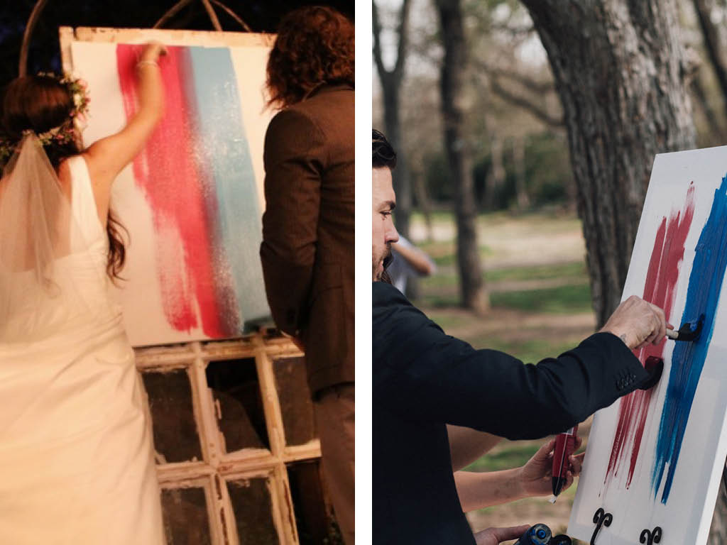 Unity painting inspiration (bring wet ones for the groom...ahem...)
